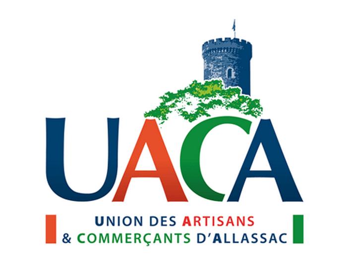 Logo de l'Union des Artisans et Commerçants d'Allassac (UACA)